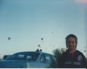 Zach and balloons