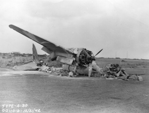 wrecked aircraft